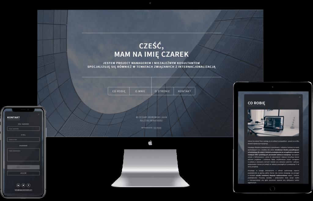 Cezary Borowski - realizacja EZ PAGE