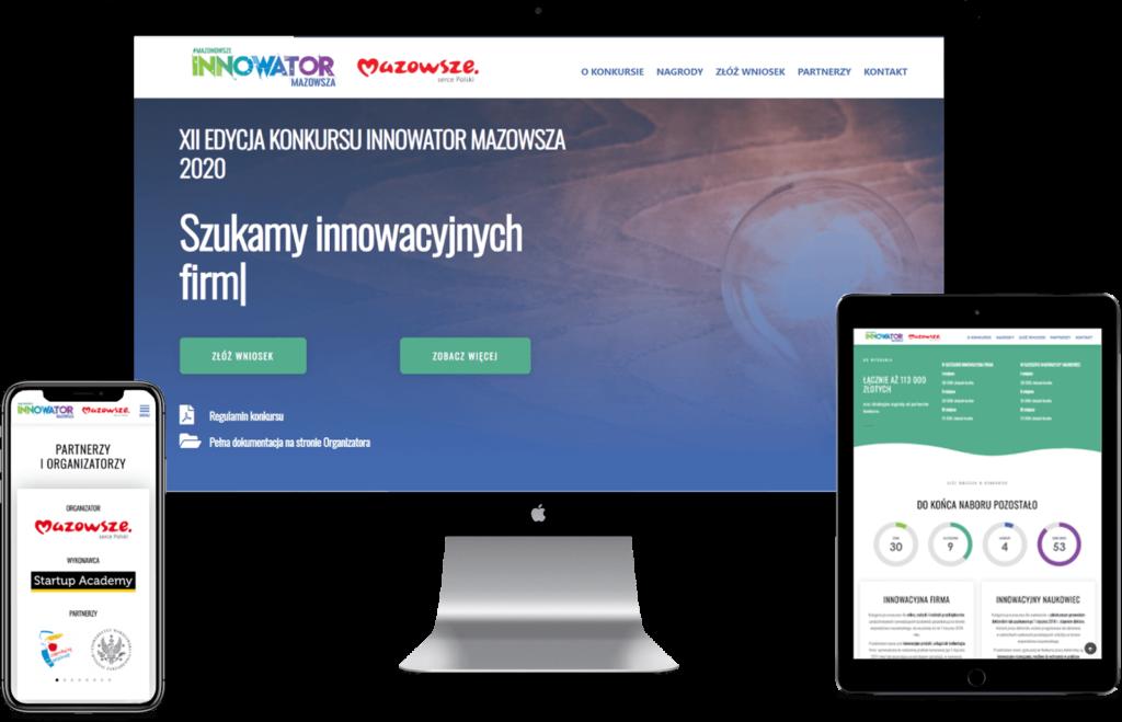 Innowator Mazowsza - realizacja EZ Page